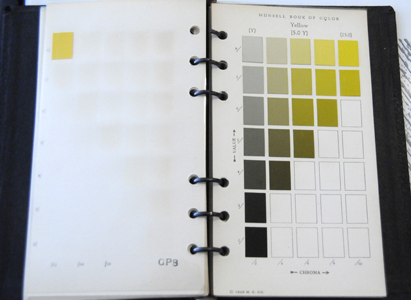 Excerpt from Munsell Color Book of Color Pocket Edition 5Y