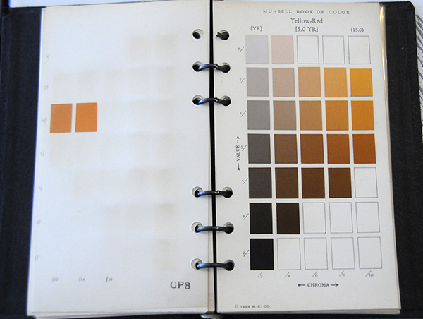 Excerpt from Munsell Book of Color Pocket Edition 5YR