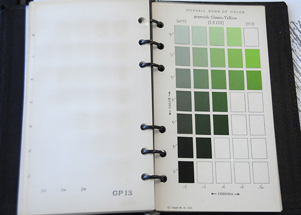 Excerpt from Munsell Book of Color Pocket Edition 7.5GY