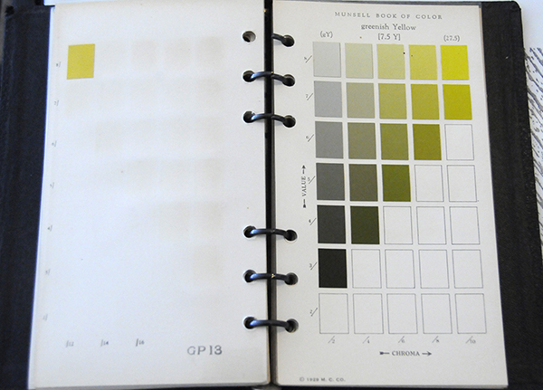 Excerpt from Munsell Color Book of Color Pocket Edition 7.5Y