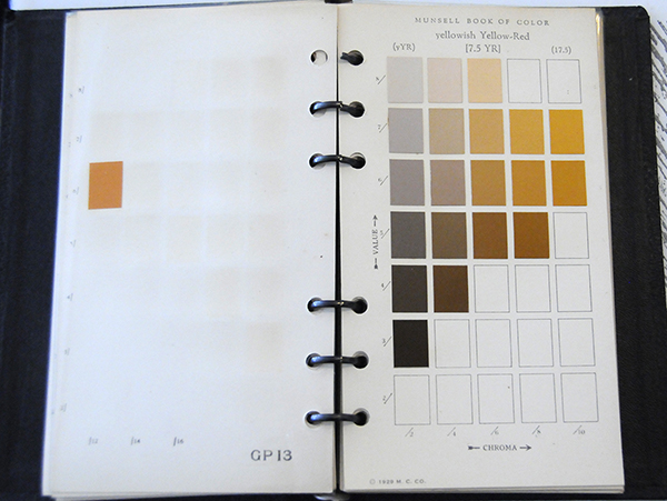 Excerpt from Munsell Book of Color Pocket Edition 7.5YR