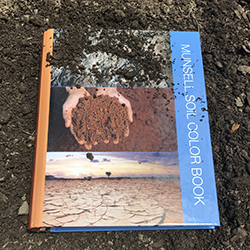 The new Munsell Soil Book with the blue cover