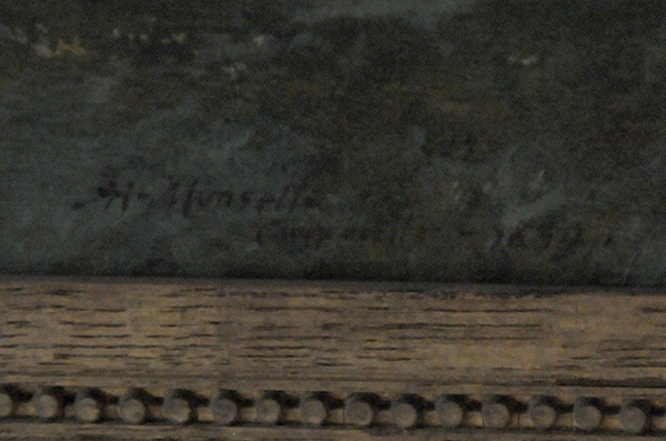 Albert Munsell's signature on a painting of Campobello from 1890