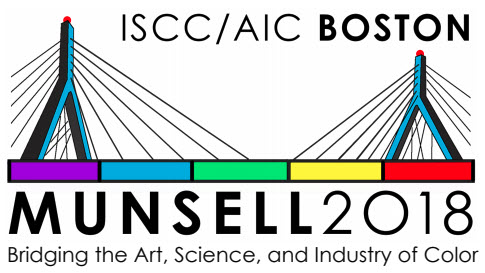 Graphic for the Munsell 2018 Symposium in Boston showing a bridges with colors connecting them