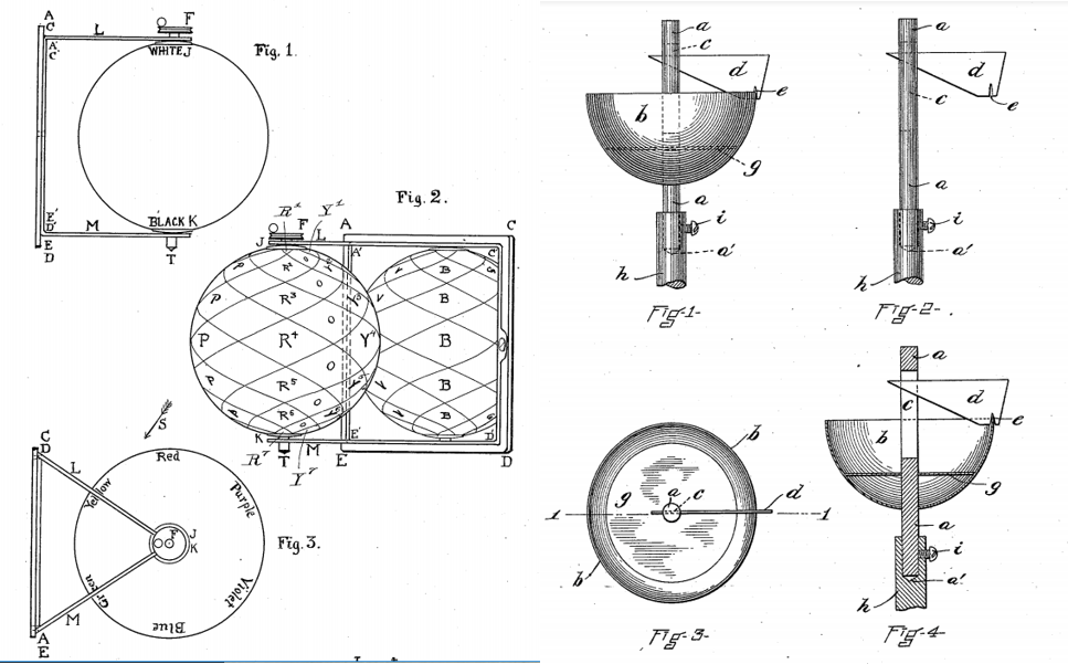 Patent drawings by Albert Munsell for a color sphere